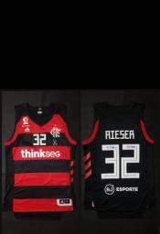 Camisa basquete Flamengo oficial de jogo.