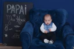 Acompanhamento mensal do bebê, fotos de 1 a 12 meses