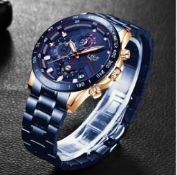 Lige 2020 relógios com aço inoxidável topo marca de luxo esportes cronógrafo relógio