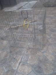 Gaiola para até 2 aves (calopsitas, periquitos, etc)