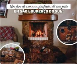 Casa por temporada, com lareira, aconchegante, romântica em São Lourenço do Sul!!
