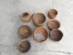 Panelas e caldeirões ferro fundido para decoração artesanato enfeite