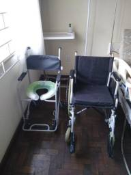 Cadeira de rodas Ottobock e cadeira de banho Jaguaribe