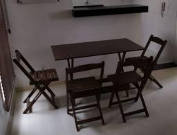 Conjunto mesa bar 120x70 c/ 4 caseiras