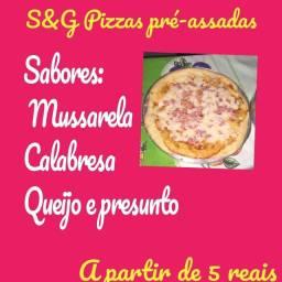 Pizzas pré-assadas a partir de 5 reais