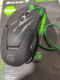 Fortrek OM-801, Mouse Gamer USB, 3200 DPI, Preto/Verde<br><br>