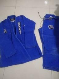 Kimono Full fighter azul 3-A1