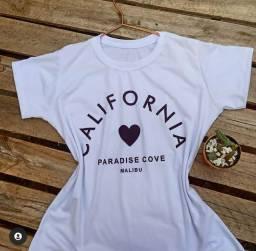 T-shirt Califórnia 100% algodão