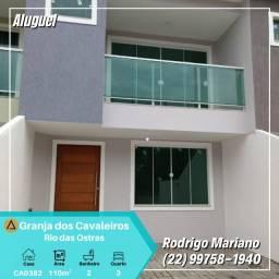 Excelente casa duplex c/ 3 quartos em condomínio na Granja dos Cavaleiros em Macaé