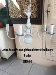 Lustre holandês para 5 lâmpadas