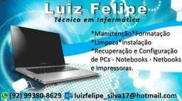 Manutenção e Formatação de Pcs Notebooks e Netbooks