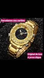 f142fde87fb Relógio de Luxo Original Navi Force a prova d água