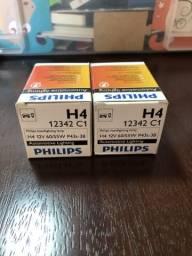 Par de lâmpadas Philips H4
