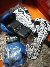 Luva Muay THAI/BOXE + Cabeleireira