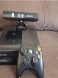 Xbox 360 500 gb,pes 2018 em midia fisica e alguns jogos no hd,1 controle e kinect