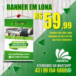 Banner em lona 40cm x 60 cm só R$ 59,99