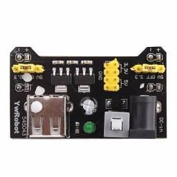 Fonte MB102 para Protoboard 3.3V 5V com Interruptor | Regulador 5V e 3V3