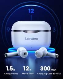 Fone de ouvido Lenovo bluetooth 5.0 estéreo controle toque 300mah