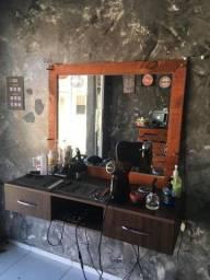 Bancada de barbeiro ou salão
