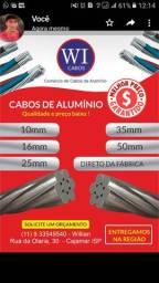 Cabos de alumínio