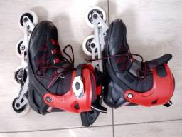 Patins adulto unissex in line/ roller Oxelo fit 5 ABEC7