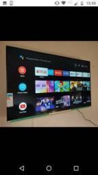 Tv 55 smart ultra HD 4k tela infinita