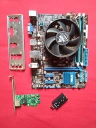 Kit Placa Mãe H61 + I5 3330 + Ram 8gb 1333mhz