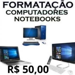Formatação de Notebook e Computador coloco windows 7, 8.1 ou 10