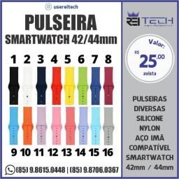 Pulseira Smartwatch 42 / 44 mm de silicone