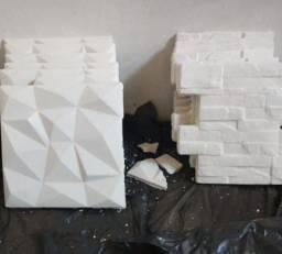 25 placas de gesso 3D + 40kg de gesso