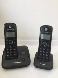 Telefone Sem Fio Motorola Dect 6.0 C/ Ramal Bina Usado Lindo