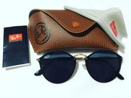 Oculos de sol round fleck ray ban