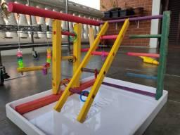 Playground Parquinho De Luxo Para Calopsitas + Brinde