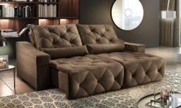 Sofá Retrátil e reclinável Super Acolchoado e Confortável -