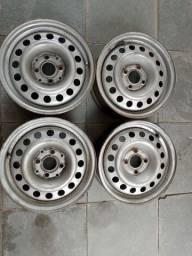 Roda aro 14 e 2 pneus remold