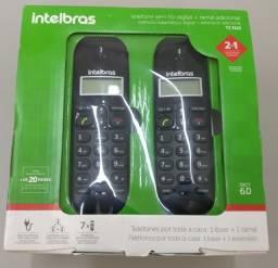Telefone sem fio digital + ramal adicional Intelbras TS 3112
