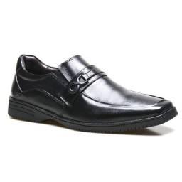 Sapato Social Masculino Supertech Em Couro Carneiro Calvest