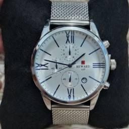 Relógio masculino original Reward luxo todo funcional