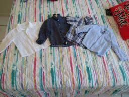 Camisas infantis arrumadas