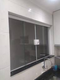 Janela de vidro temperado 2x1