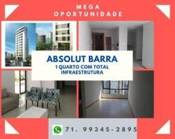 Absolut, Oportunidade na Barra: apartamento, 1 quarto, 43m², 01 vaga, infraestrutura