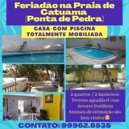 Casa com Piscina em Catuama (Ponta de Pedras) para feriadão