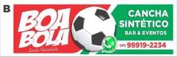 Aluguel de Quadra/ Campo/ Cancha de futebol sintético. Eventos -Horário