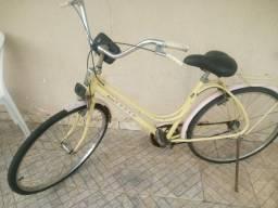 Bicicleta vintage + capacete + suporte celular