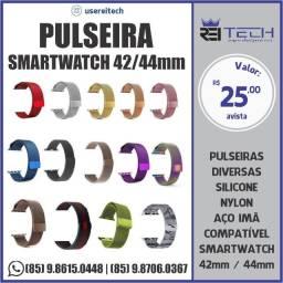 Pulseira SmartWatch 42/44mm Aço Imã