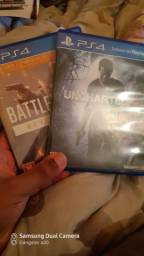 Jogos PS4 BATTLEFIELD + UNCHARTED 4