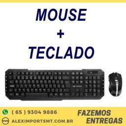 Kit Teclado + Mouse sem Fio C3Tech K-W40Bk 1600dpi Preto