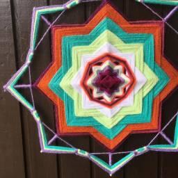 Mandalas Decorativas Tecidas em Lã ?