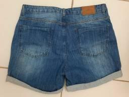 Bermuda jeans feminina n44, usada 1x, cintura alta.