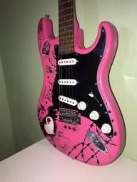 Guitarra Condor Rosa Estampada